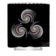Spinning Wheel Shower Curtain