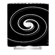Spiral Black Shower Curtain