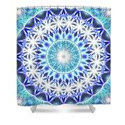 Spiral Compassion K1 Shower Curtain by Derek Gedney