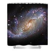 Spiral Galaxy Ngc 1672 Shower Curtain
