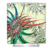 Spiral Garden Shower Curtain