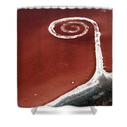 Spiral Jetty From The Air Shower Curtain