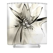Spiral Mania 4 - Black And White Shower Curtain