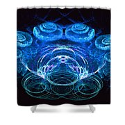Spiral Percussion Shower Curtain