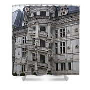 Spiral Staircase Chateau Blois  Shower Curtain