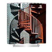 Spiral Stairs - Color Shower Curtain
