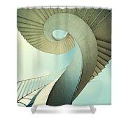 Spiral Stairs In Pastel Tones Shower Curtain