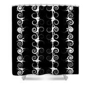 Spirals And Swirls Black And White Pattern  Shower Curtain