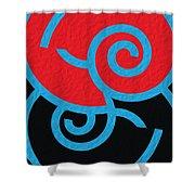 Spirals Shower Curtain