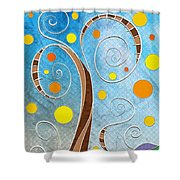 Spiralscape Shower Curtain