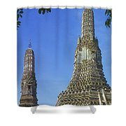 Spires Of The Temple Of Dawn Shower Curtain