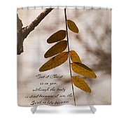Spirit Is Life Shower Curtain