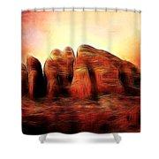 Spirit Mountain Shower Curtain