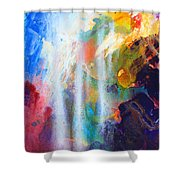 Spirit Of Life - Abstract 5 Shower Curtain