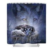 Spirit Of The Blue Fox Shower Curtain