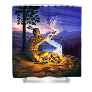 Spirit Of The Cougar Shower Curtain