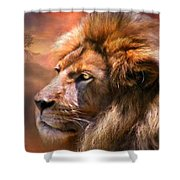 Spirit Of The Lion Shower Curtain