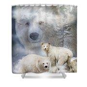Spirit Of The White Bears Shower Curtain