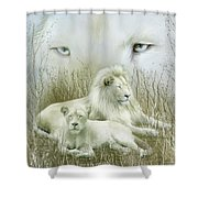 Spirit Of The White Lions Shower Curtain