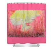 Spirit Touched Heart Of Man Shower Curtain