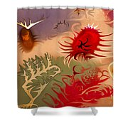 Spirits And Roses Shower Curtain by Omaste Witkowski