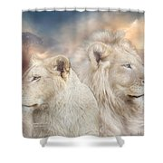 Spirits Of Light Shower Curtain by Carol Cavalaris