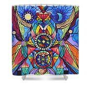 Spiritual Guide Shower Curtain by Teal Eye  Print Store