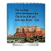 Spiritual Laws Shower Curtain