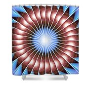 Spiritual Pulsar Kaleidoscope Shower Curtain