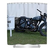 Spitfire Cafe Shower Curtain