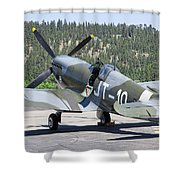 Spitfire On Takeoff Standby Shower Curtain