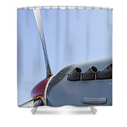 Spitfire Propeller And Exhaust Shower Curtain