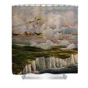 Spitfire's Over Dover Shower Curtain