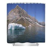 Spitsbergen Islandn Svalbard Norwegian Shower Curtain