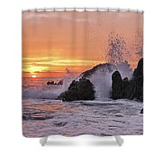 Splash  Shower Curtain by Marcia Colelli