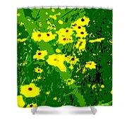 Splash Of Yellow Shower Curtain