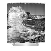 Splash - Panther Beach In Santa Cruz California. Shower Curtain