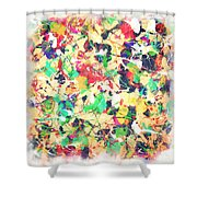 Splashing Paints Shower Curtain