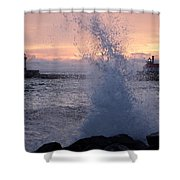 Splashy Sunrise Shower Curtain