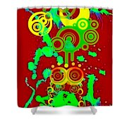 Splattered Series 10 Shower Curtain