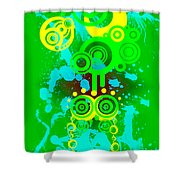 Splattered Series 3 Shower Curtain