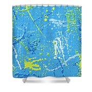 Splattering Shower Curtain