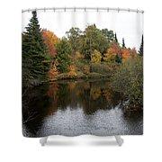 Splendor On A River Shower Curtain