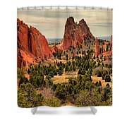 Splinters Of Light On The Spires Shower Curtain