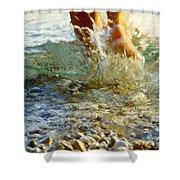 Splish Splash Shower Curtain by Heiko Koehrer-Wagner