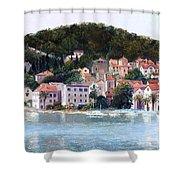 Split Harbour Croatia Shower Curtain