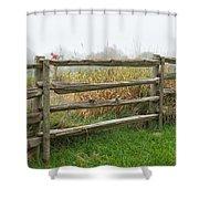 Split-rail Fence - Vertical Shower Curtain