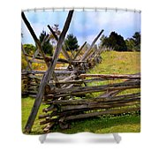 Split Rail Shower Curtain