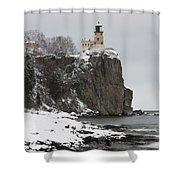 Split Rock Lighthouse Winter 19 Shower Curtain