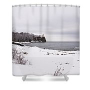 Split Rock Lighthouse Winter 7 Shower Curtain